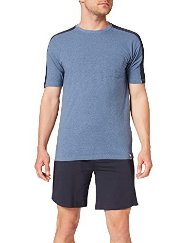Springfield Pijama Corto Punto Ligero Juego, Azul Oscuro, L para Hombre