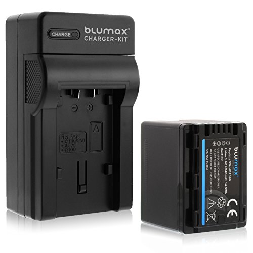Blumax Premium Akku 4040mAh + 1x Ladegerät ersetzt Panasonic VW- VBT 380 E-K