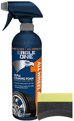 Eagle One All Wheel and Tire Cleaner 23 oz, Bundled with One Tire Pad (2 Items)
