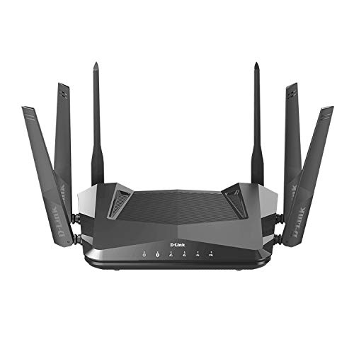 D-Link WiFi 6 Router AX5400 MU-MIMO Voice Control Compatible with Alexa & Google Assistant, Dual Band Gigabit Gaming Internet Network (DIR-X5460-US)