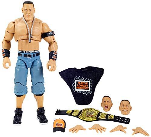 WWE John Cena Ultimate Edition Wave 5 Elite - Figura de acción de 15,24 cm con kit de iniciación, cabeza extra y manos intercambiables