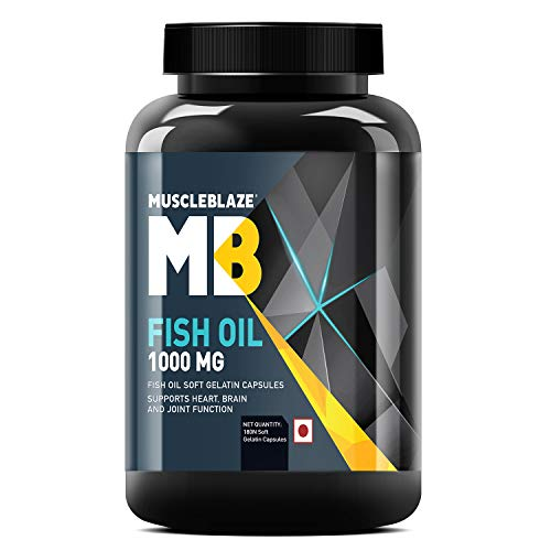 MuscleBlaze Omega 3 Fish Oil 1000 mg (180mg EPA...