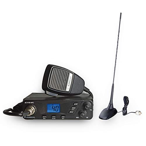 Albrecht Ae 6199 NRC CB + Antena de pie magnética CBM-516 12699.S6, Radio CB con función VOX integrada y Filtro de Ruido NRC Incluye Antena de pie magnética.