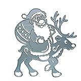 Santa Metal Cutting Dies DIY Herramienta de Relieve Molde Stencil Scrapbooking Album Tarjeta Tarjeta Tarjeta Cocina Gadgets