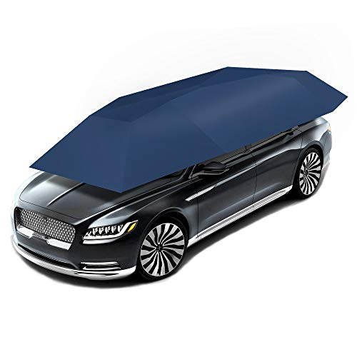 CXYY Auto-Zelt-Regenschirm, automatischer Anti-UVauto-Zelt-beweglicher Carport faltete tragbare Automobil-Schutz-Auto-Regenschirm-Sunproof Sonnenschutz-Überdachungs-Abdeckung,Blue