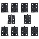 rzdeal 10pcs bisagras de puerta de color negro mate con cuadrado esquinas, 2.28x 1,3en