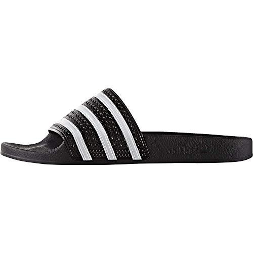 Adidas Adilette, Unisex-Erwachsene Badeschuhe, Schwarz (Black 1/White/Black 1), 48.5 EU 13 UK