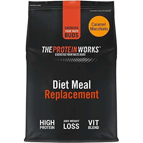 THE PROTEIN WORKS Sustituto De Comida Dietético | Rico En Nutrientes | Vitaminas Potenciadoras del Sistema Inmune | Asequible, Saludable & Rápida | Macchiato Caramelo | 1kg