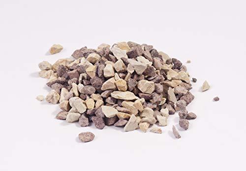 NWN Cappuccino Splitt | 30 KG | 8-16 MM | Creme-braun | Dekosteine | Ziersplitt für Garten (2X 15 KG)