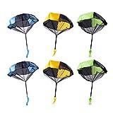 Toyvian 6pcs Parachute Toys Tangle Free Throwing Toys Hand Throw Parachute Toss It