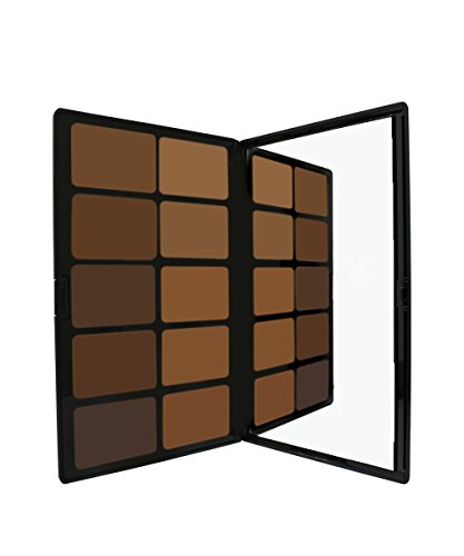 Kamaflage Foundation Palette by Sacha Cosmetics, Best Professional Camouflage Full Coverage Concealer Makeup Kit, Matte Poreless Tattoo Cover Up, All Skin Types, Medium to Deep