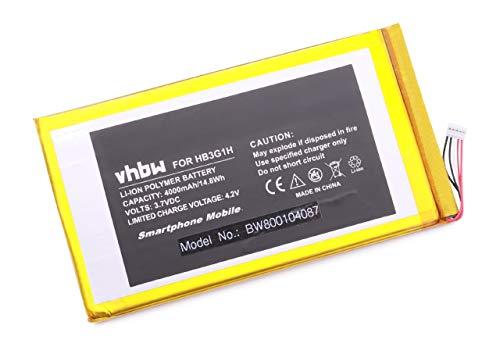 Batterie Li-Polymer 4000mAh (3,7V) pour la Tablette Huawei MediaPad, par Exemple: MediaPad 7 Lite, S7-301U, T-Mobile Springboard. Remplace: HB3G1H.