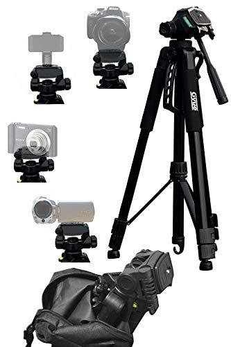 Gyue 三脚 170cm 軽量 コンパクト 一眼レフ ビデオカメラ 小型 3WAY雲台 3段 どの機種どのシーンでも大活躍