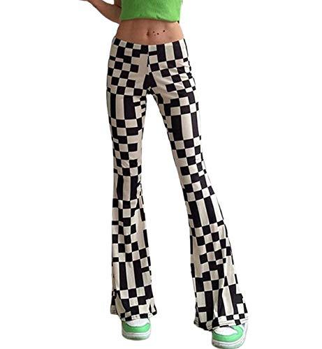 Pantalones de punto para mujer, estilo vintage de Harajuku Y2K Streetwear D S