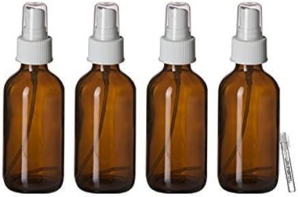 TRIGGER Sprayer Bottles 3 Piece Set 4 oz Amber Glass Bottles /& Body Oil Sample