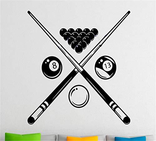 Wandtattoo Wandaufkleber Küche Billiard Snooker Sports Game Decal Dorm Club Home Interior Decor Art Mural for billiard room