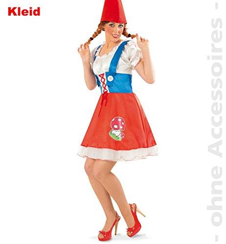 Fritz Fries & Söhne GmbH & Co Kostuum Ondeugende Dwerg Volwassen Jurk Carnaval Fairy Tale 7 Dwergen Dwerg Kostuum voor Vrouwen, 42