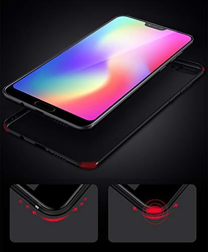Olliwon Huawei Honor 10 Hülle, Dünn Leichte Schutzhülle Schwarz Silikon TPU Bumper Case Cover für Huawei Honor 10 - 6