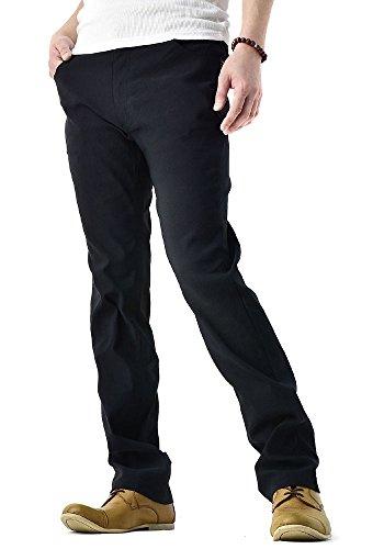 (フラグオンクルー) FLAG ON CREW 超ストレッチ パンツ メンズ テーパードパンツ / B4O / L レギュラー・ブラック