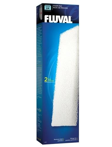 Fluval U4 Filter Set - Foam pads, Poly Carbon cartridges, and Biomax !70g