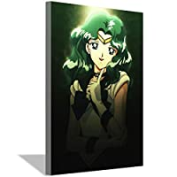 セーラームーンポスターアニメ絵画キャンバスデコレーションガールズリビングルームベッドルームデコレーションキャンバスアートプリントウォールアート写真絵画50x70cm(20x28inch)ONフレームポスターc