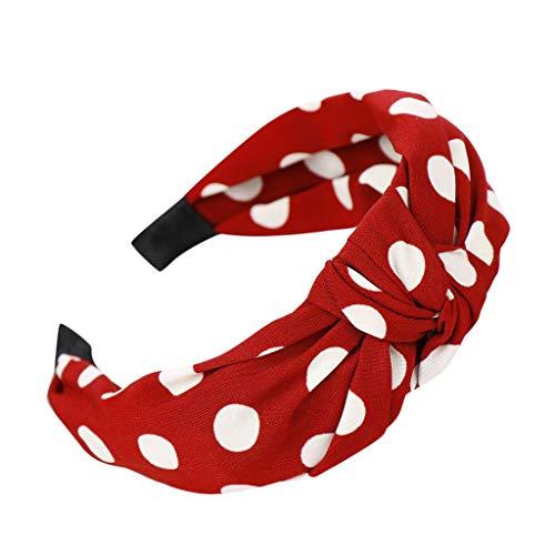 COZOCO 2019 Neu Mode-Bogen-Knoten-Punkt Hairband Frauen-Haar-Kopf-Band-süßes Mädchen-Haar-Stirnband Schnell verkaufend