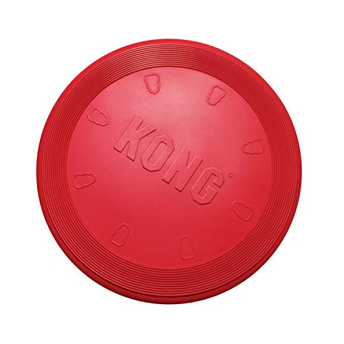 KONG - Flyer - Frisbee de Caucho Resistente - para Perros Grandes