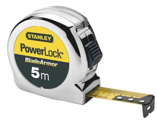 Stanley Bandmass Mirco Powerlock BladeArmor (5 m Länge, Feststeller, automatischer Rücklauf, Gürtelclip) 0-33-514