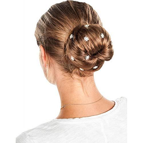 HKM Curly Blume- - Juego para el pelo, color plateado