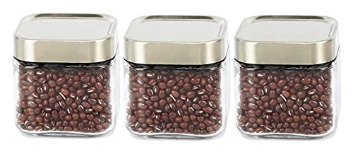 Spice Jar Set Opslagcontainers 3 stks Container Set Keuken Canisters Set van 3/6 klein glas met deksels for teller…