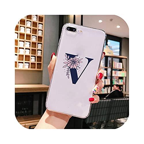 Carcasa para iPhone 8, diseño de letra con texto en inglés 'Monogram' para iPhone X XS Max 6 6s 7 7plus 8 8Plus 5 5S se 2020 XR 11 11pro Max transparente a10-iPhone12Promax 6.7