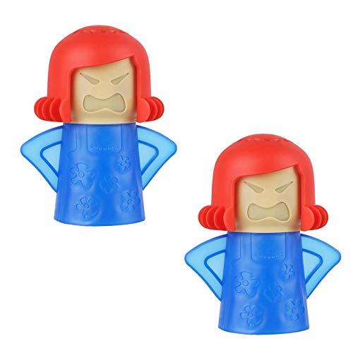 HO2NLE 2 Stücke Mikrowellenreiniger Angry Mama Schnelle Aktion Mikrowelle Dampfreiniger für Küche Zuhause Mikrowelle Büro Küchenreiniger Werkzeug