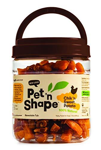Pet 'n Shape Chik 'N Sweet Potato - All Natural Dog Treats, Chicken, 1 Lb