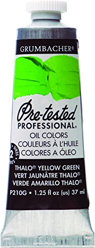 Grumbacher Pre-Tested Oil Paint, 37ml/1.25 Ounce, Thalo Yellow Green (P210G)