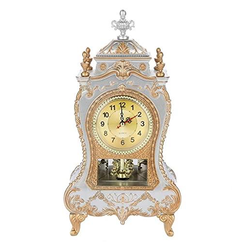 HAINING Escritorio Retro Despertador Reloj Vintage Realeza clásica Sala de Estar TV Gabinete Imperial Europeo Creativo Sit Relojes de péndulo