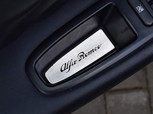 Cubierta De Acero para Alfa_Romeo 159-4 Piezas decoración de la puerta Placa Inox Metal Cepillado Interior Personalizados Hechos a Medida Tuning