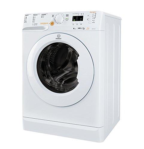 Indesit XWDA 751680X W EU Autonome Charge avant A Blanc machine à laver avec sèche linge - Machines à laver avec sèche linge (Charge avant, Autonome, Blanc, Gauche, boutons, Rotatif, LED)