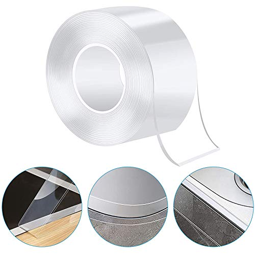 Caulk Strip PMMA Self Adhesive Waterproof Repair Tape for Bathtub Bathroom Shower Toilet Kitchen and Wall Mildew Sealing (49/25 Inch Width x 33Feet Length,Transparent)