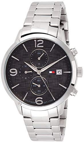 Tommy Hilfiger Herren Multi Zifferblatt Quarz Uhr mit Edelstahl Armband 1710356