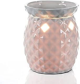 Candle Warmer Tall White Ceramic Tart Lamp Warmer - Wax Cube Melter - Air Freshener Odor Eliminator