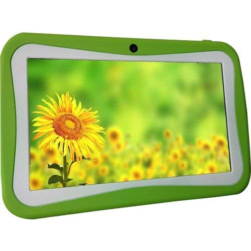 WorryFree Gadgets 7' Kids Tablet Computer, Android 7.1, Quad Core CPU, 8GB Hard Drive, Pre-Installed Games and Apps, Wi-Fi, Dual Camera - Green