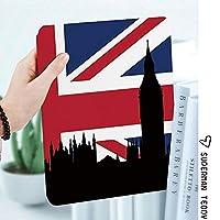 IPad 2 3 4ケース レザー 軽量 薄型 2つ折スタンド マグネット 磁気吸着 オートスリープ/ウェイク機能ケ 全面保護カバー アップルiPad 2/3/4 対応ipad3 ケース イギリス国旗歴史的都市スカイラインの議会シルエットの家