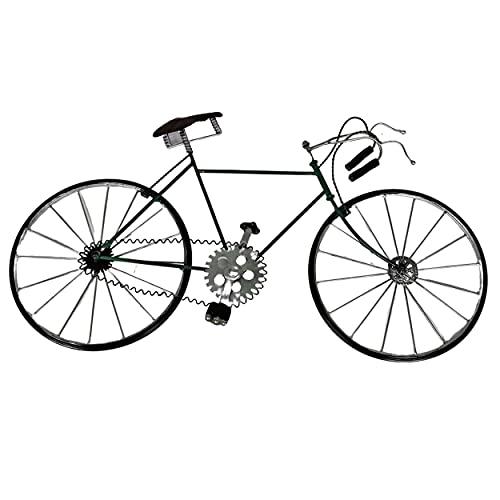 Decoración de pared con bicicletas de metal vintage. Para hombres, mujeres y niños, amantes del ciclismo y del Tour de Francia. Regalo ciclista para cumpleaños, jubilación, Navidad W 60 X H 33 Cm