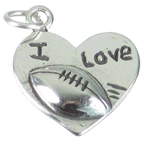 I love Rugby Anhänger Herz 925 sterling Silber charms SSLP3110