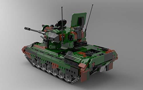 BlueBrixx 06045 Marke Xingbao – FlakPz Gepard, Bundeswehr aus Klemmbausteinen mit 1352 Bauelementen. Kompatibel mit Lego. Lieferung in Originalverpackung.