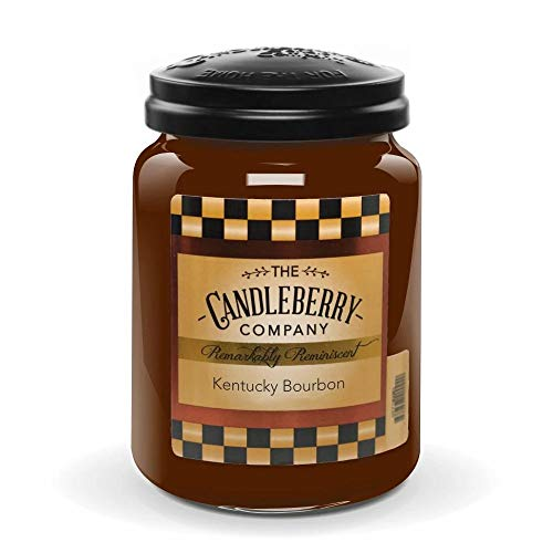 Candleberry Candles   Strong Fragrances for Home   Hand Poured in The USA   Highly Scented & Long Lasting   Large Jar 26 oz (Kentucky Bourbon)