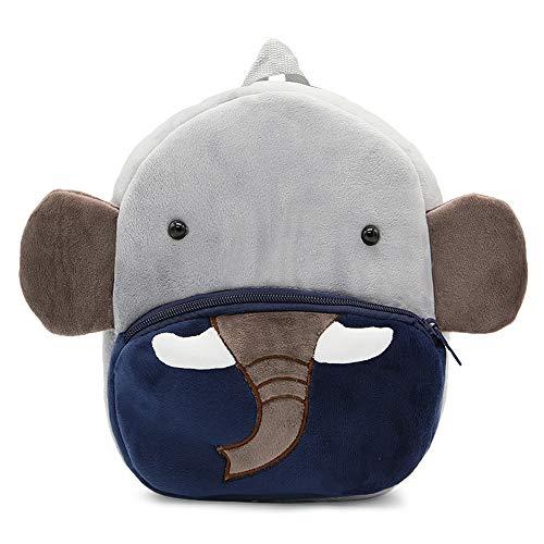 GXY Sac à Dos Enfant Anti-Perte Forme Animale Mignonne en Peluche Mini - Sacs d'école Maternelle pour garçons Filles de 2-4 Ans (éléphant)