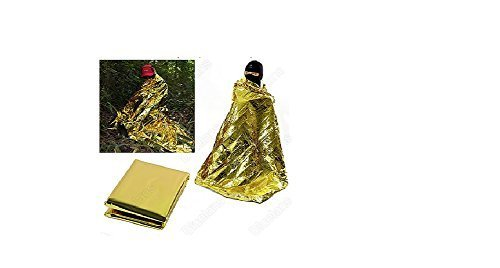 Emergency Blanket Survival Rescue Curtain Outdoor Life-saving Tent military Silver Gold by Unknown (0100-01-01)