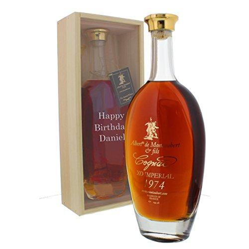 Cognac 1974 - Jahrgangscognac Albert de Montaubert 1974 mit individueller Namens-Gravur