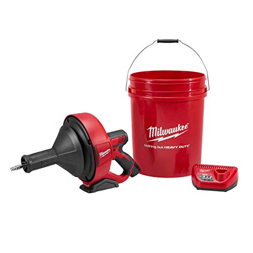 Milwaukee Electric Tool 2571-21 M12 Drain Snake Kit, 1 ' x 20.5 ' x 1.75'
